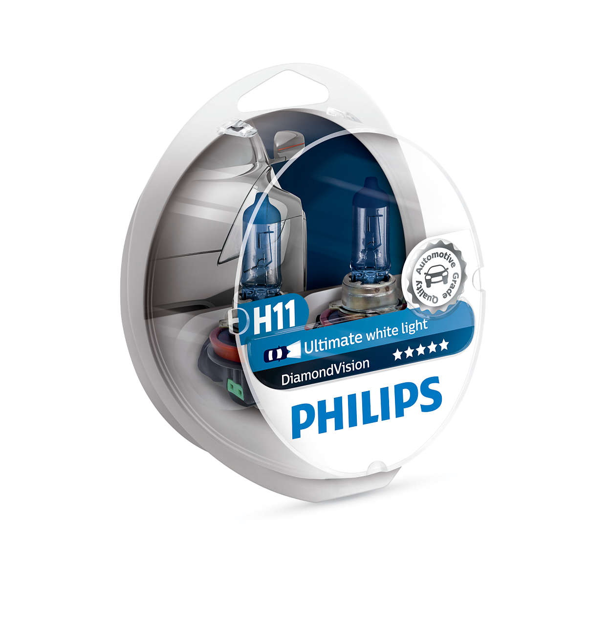 H11 PHILIPS 5000K DIAMOND VISION/XENON LOOK